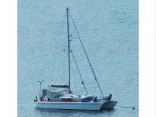 Prout Catamaran Snowgoose 37 : Au mouillage